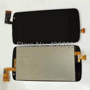 LCD Display Touch Screen Digitizer Assembly For HTC Desire 500 5088 5080 5060 5060E Panel outer front Glass Lens black