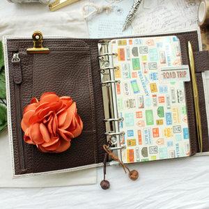 Image 5 - Lederen Ringband Notebook A6 Handgemaakte Persoonlijke Agenda Organisator Koeienhuid Dagboek Journal Sketchbook Planner Geld Pocket