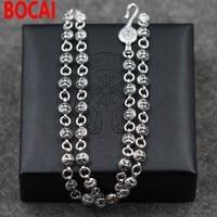 Retro Vintage Crociato Fiore In Argento Sterling Silver Collana high-end 925 gioielli in argento all'ingrosso