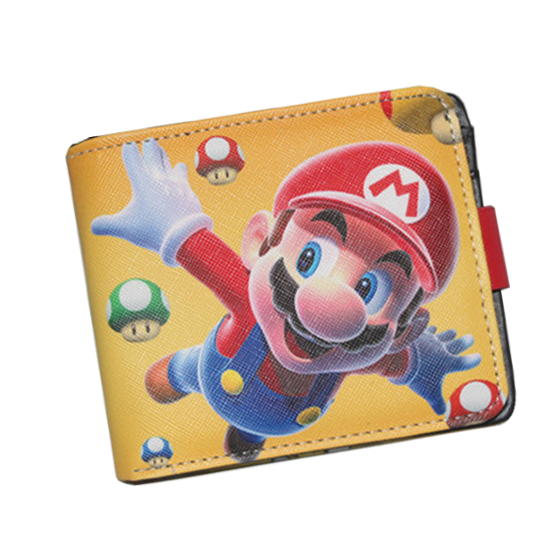 Popular Game Super Mario Anime Men Wallets Leather Short Simple Women Purse Money Pockets ID Cards Holder Female Boys Girls Bags cartoon anime league legends wallets creative gift purse students boy girls leather bags men women fashion casual short wallet
