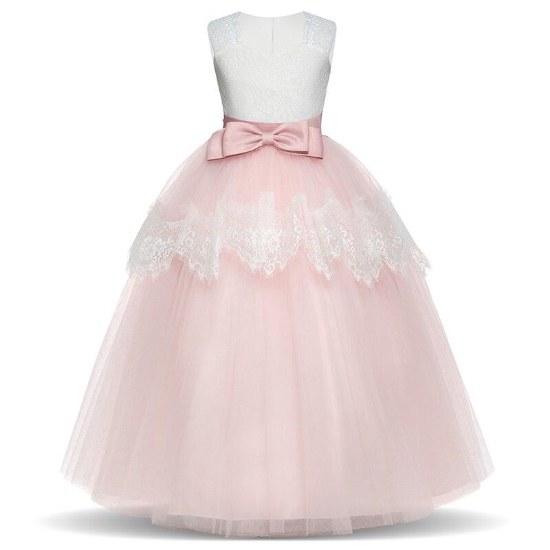 2018 Summer Girls Party Dresses Elegant Performance Kids Dress Children Princess Wedding Dress Costume For Girl 6 14 Yrs Clothes