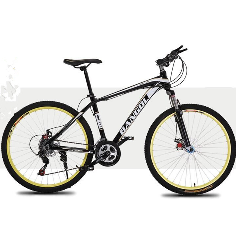 Double Disc Bicycle High Carbon Steel Materials 26 Inches 21 Speed Double Disc Brake