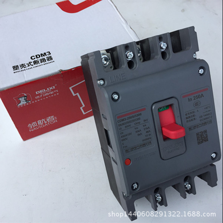 DELIXI CDM3 250A Air switch, circuit breaker leakage circuit protector air switch residual current circuit breaker dz15le 100 490 100a
