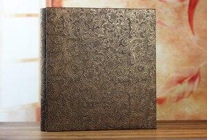 Image 4 - 600 כיסי 6 אינץ Interleaf סוג גדול גבוהה קיבולת אלבום תמונות עור מפוצל אלבומים תמונות בעבודת יד DIY הנצחה משפחה פרח