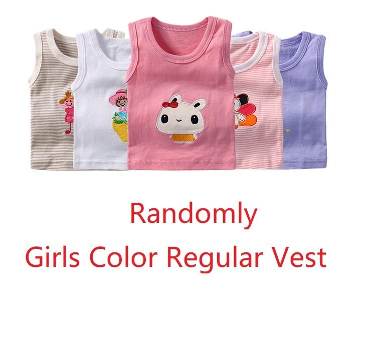 2019 Summer Baby Boy Tops Sleeveless Girls Vest Tanks Camisoles Newborn Undershirts Children T-Shirt Cotton Tee Shirts 0-3Y 7
