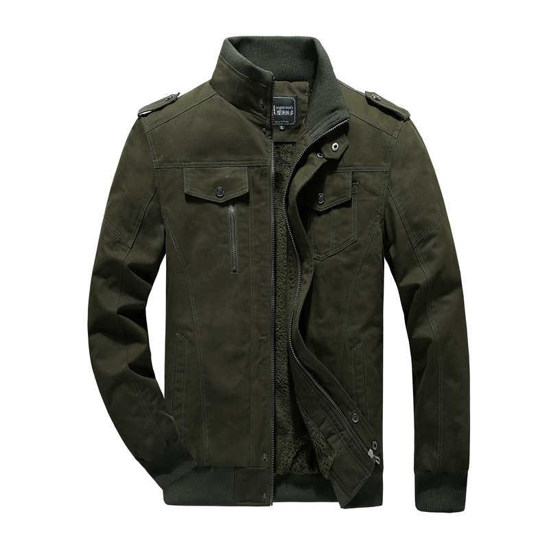 Cashmere jaqueta de Algodão dos homens Militares jaqueta M-6XL tanque Do Vintage tamanho Grande cara Duro desgaste jaqueta de Vôo da força Aérea Do Exército uniforme
