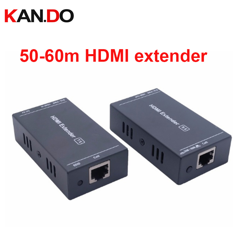 HD HDMI Extender TX/RX Over Single Cat6 Ethernet Cable Up To 60M/197 Feet With 1080P 3D HDMI Transmission