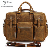2017 The First Layer Of Leather Bag Boy Crazy Horse Portable Bag Men S Casual Handbag