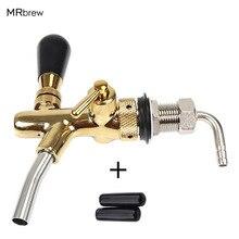 Birra alla spina rubinetto rubinetto, G5/8 Rubinetto Regolabile con placcatura dorata, Keg Tap Beccuccio Homebrew Birra