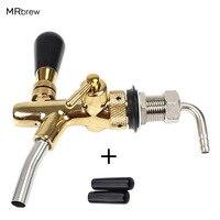 Draft Beer tap faucet, G5/8 Adjustable Faucet with golden plating, Keg Tap Spout Homebrew Beer