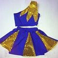 Los niños Ropa de Aeróbic Porristas Cheerleader Costume Trajes de uniforme de la animadora del traje Cheerleading Gimnasia