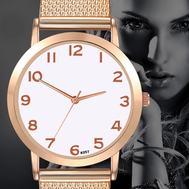 Women Causal Watches Simple Ladies Silicone Bracelet Round Case Dial Analog Quar
