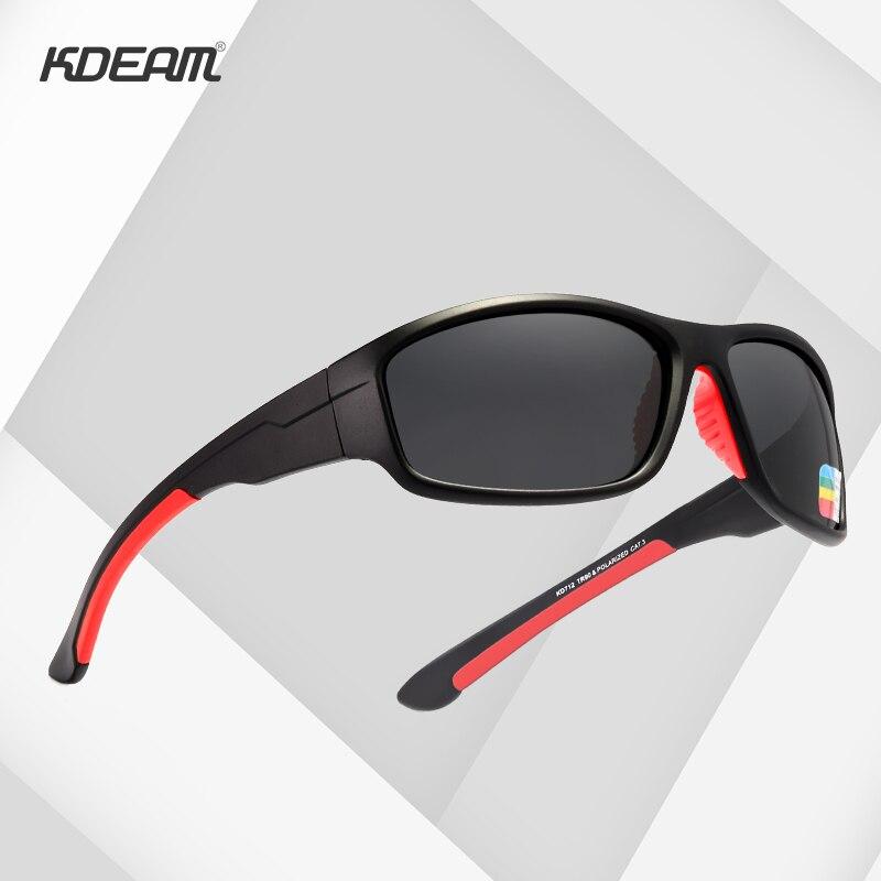 KDEAM TR90 Inquebrável Esporte Óculos De Sol Dos Homens Excelentes Óculos de Condução Ao Ar Livre Terno para Qualquer Rosto Máscaras KD712