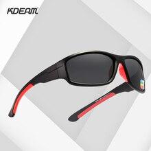 KDEAM Unbreakable TR90 ספורט משקפי שמש גברים מצוין חיצוני נהיגה משקפיים חליפת עבור כל פנים גווני KD712