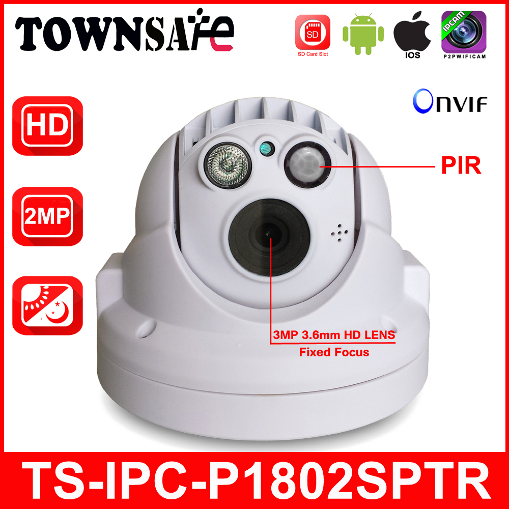 TOWNSAFE new TS-IPC-P1802SPTR Full HD 1080P 2.0MP ONVIF MINI PTZ Dome IP Camera PIR with Built-in 32GB SD/TF Card P2P janet pascal quien fue abraham lincoln