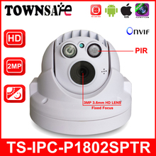 TOWNSAFE new TS-IPC-P1802SPTR Full HD 1080P 2.0MP ONVIF MINI PTZ Dome IP Camera PIR with Built-in 32GB SD/TF Card P2P