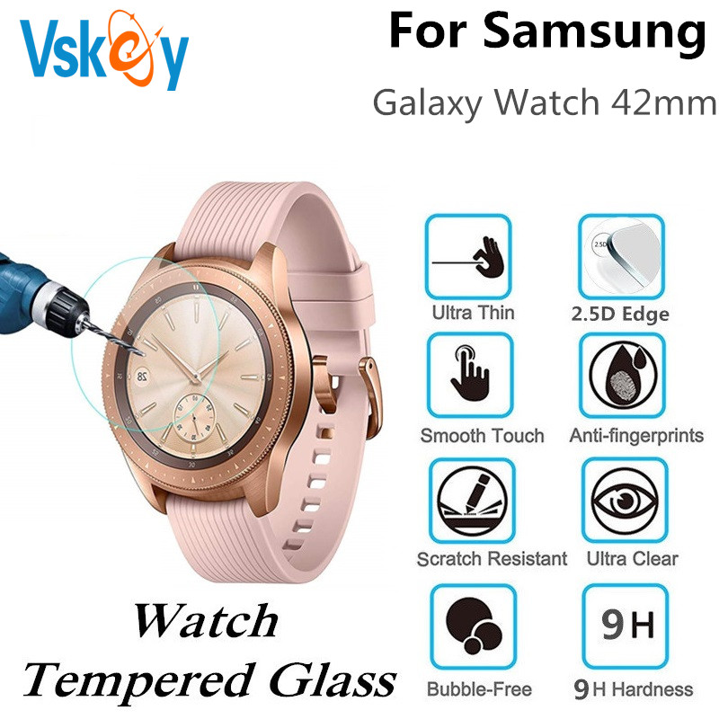 100PCS Tempered Glass For Samsung Galaxy Watch 42mm Round Smart Watch Screen Protector D30 5mm Protective