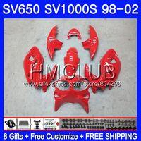 Glossy red Fairing For SUZUKI SV650S SV400S SV1000S 98 99 00 01 02 29HM.2 SV 650S 400S 1000S SV400 S 1998 1999 2000 2001 2002