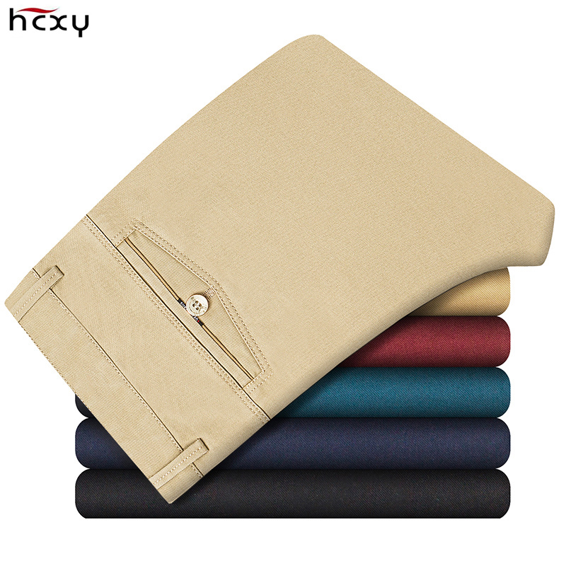 HCXY Men's forward Store HCXY Brand 2016 New Arrival Autumn Winter Thicken Men's Pants Men Trousers Male Commercial Casual Cotton Straight Plus Size 40