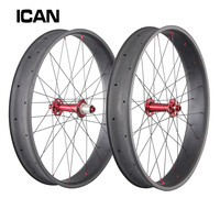 2015 ICAN 90/65 мм 26er жира велосипед углерода колес 700c полный углерода жира колеса велосипеда 90 мм зимние углерода колеса велосипеда набор fw90