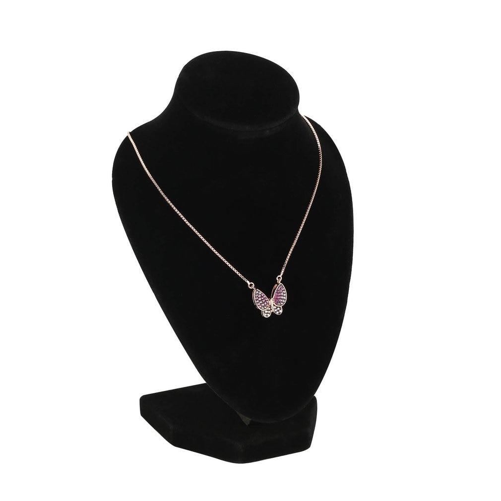 Black Velvet Necklace Pendant Jewelry Display Stand Holder Show Shelf Chain Earring Jewelry Bust Display Organozer Showcase Rack