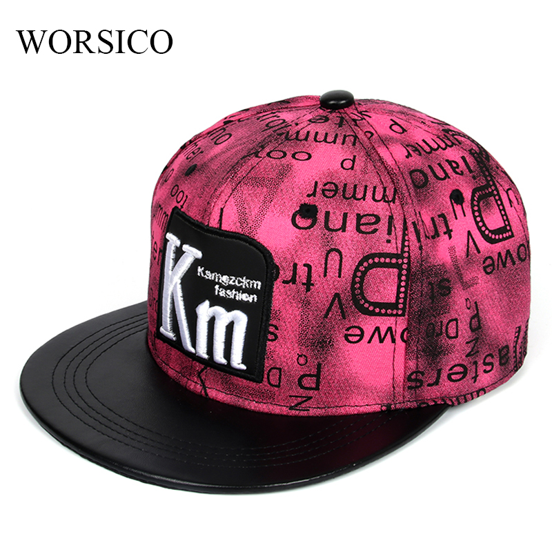 цена на WORSICO 2017 New Brand Women Snapback Cap Men Baseball Cap casquette de marque gorras planas hip hop Snapback Caps Hats for Men