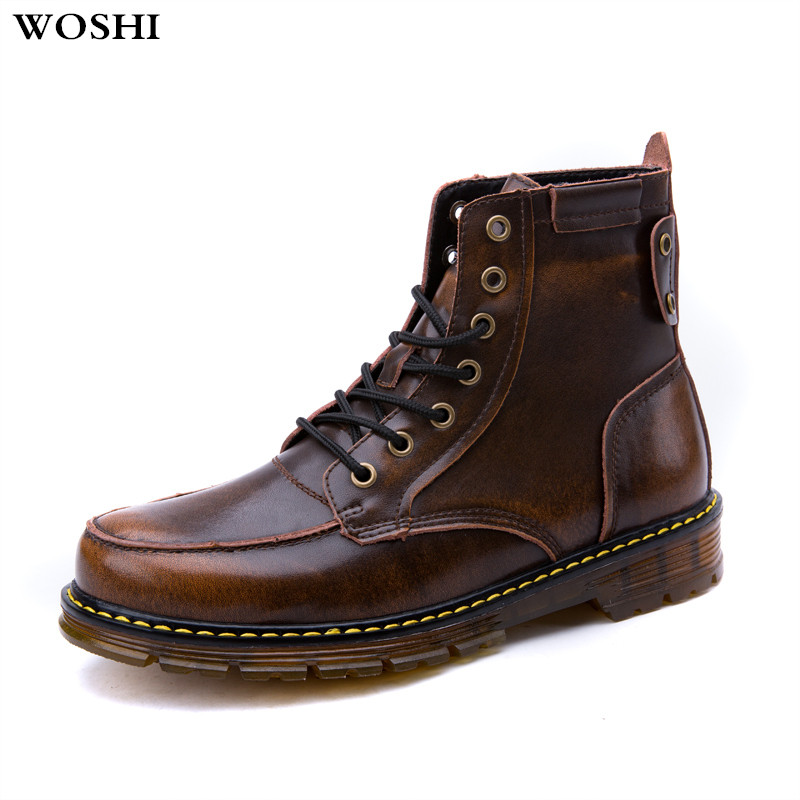 Genuine leather winter Men Boots Winter Waterproof Ankle Boots comfortable Martin Boots fashion Outdoor Working Boots Men Shoes 2016 fashion warm genuine leather boots comfortable men winter boots quality ankle boots men winter shoes brand men s boots ok page 1