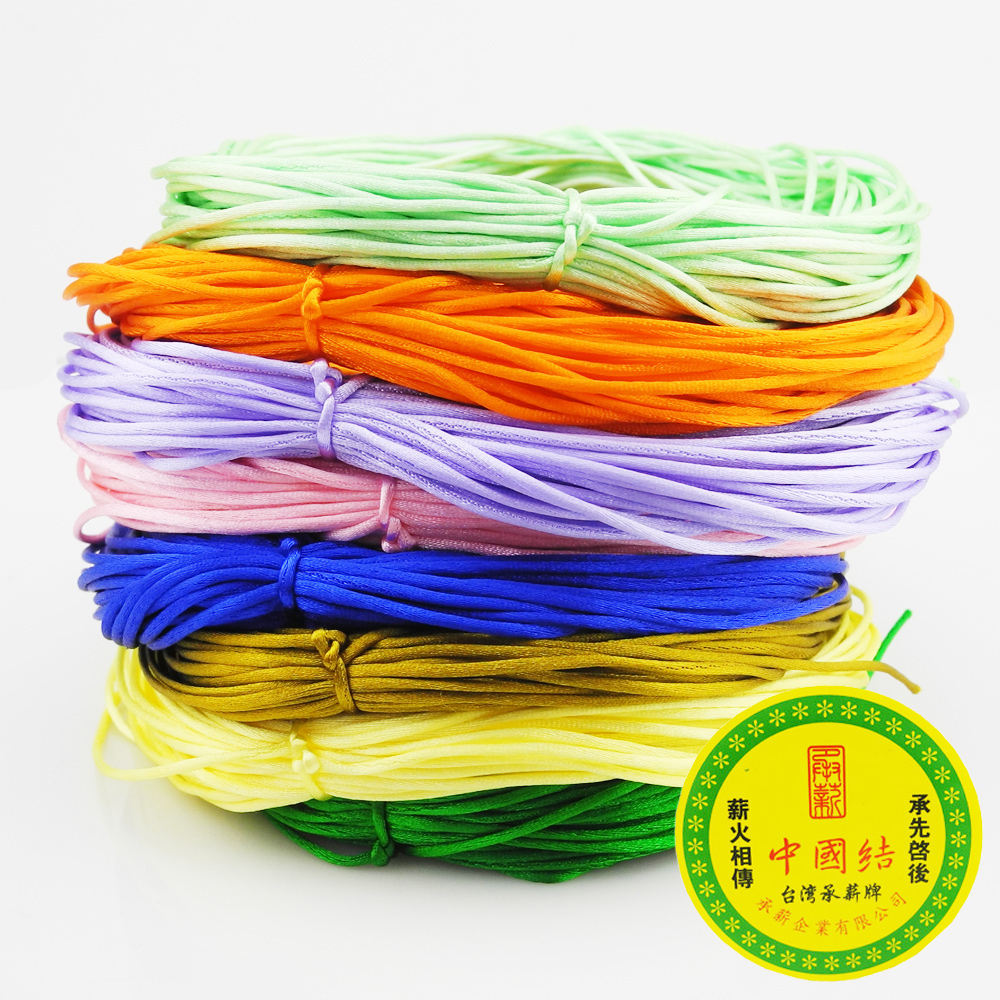 Satin-Cord Chinese Silicone Baby Teething-Bead 1mm Knot Nylon for Necklace:nylon-20-Yards-Each-Piece
