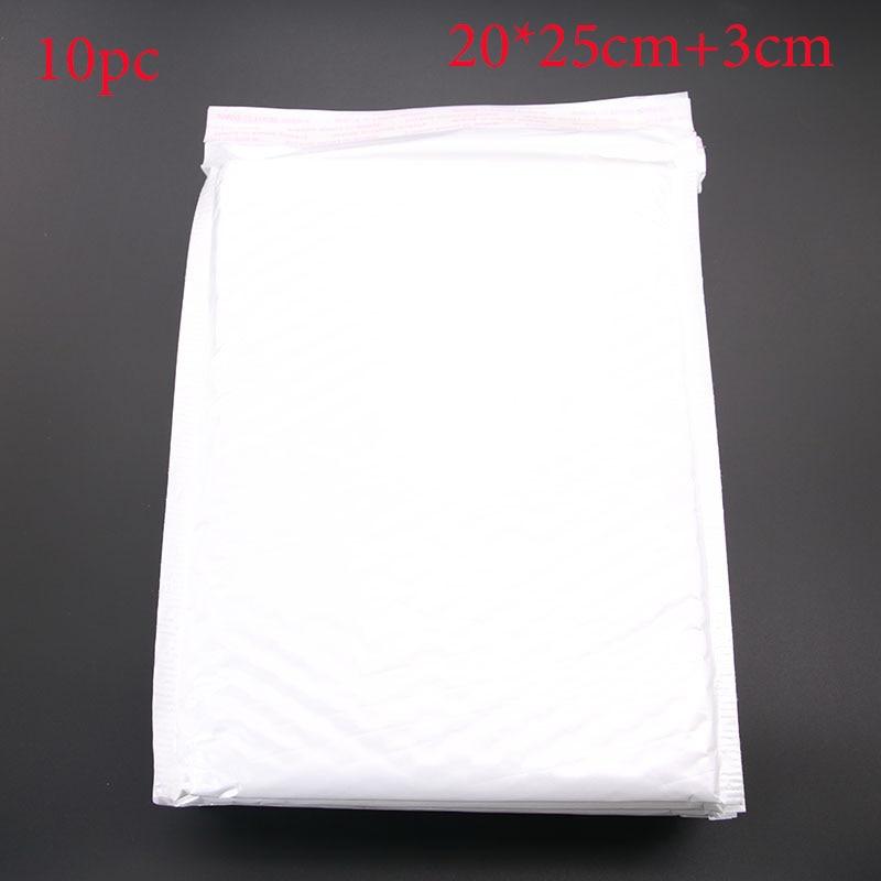 Wholesale! 10pcs (20 * 25cm +3cm) White Paper Envelope Gift Technology Bubble Bag
