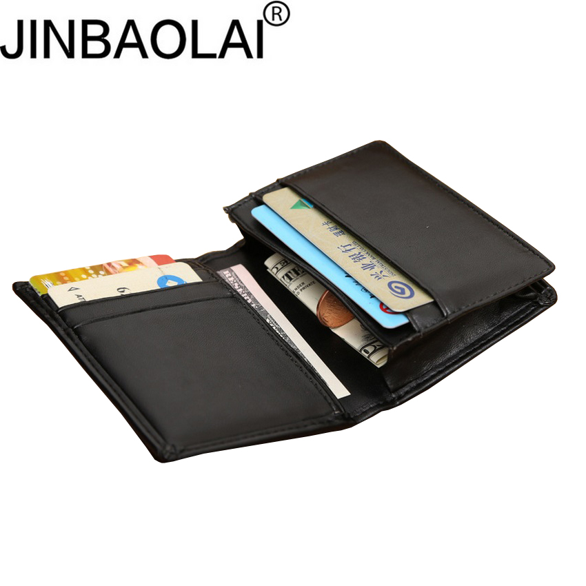 JINBAOLAI Men's business card holder Large capacity wallet  for money Ultra thin purse credit card holder D3154-6