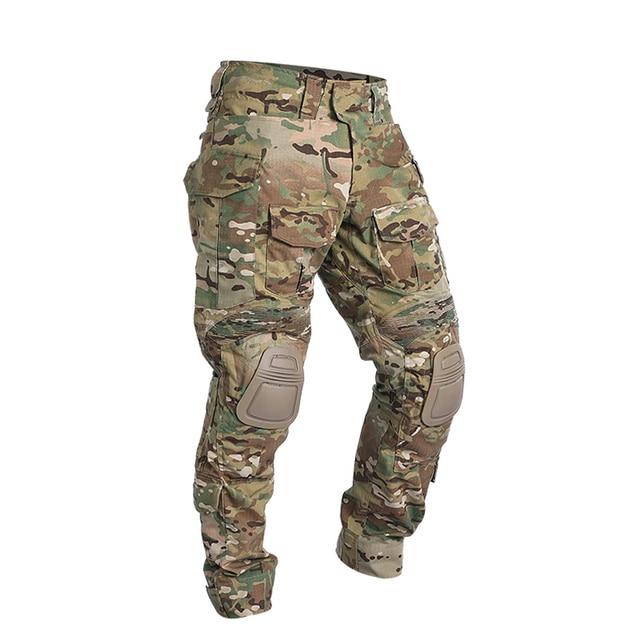 Уличные тактические брюки с наколенниками Военная Униформа мультикамера Военная боевая рубашка uniformcamouflage Одежда для охотников ghillie костюм