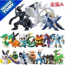 Tomy Pokemon 5cm Figures Pokemon Snivy Tepig Oshawott Pikachu Garchomp Action Figures Toys Anime Collectible Model kids gifts