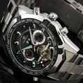 Brand Designers Multi Function Automatic Mechanical Big Watches Full Steel Atmos Army Clock Men's Tourbillon Watch