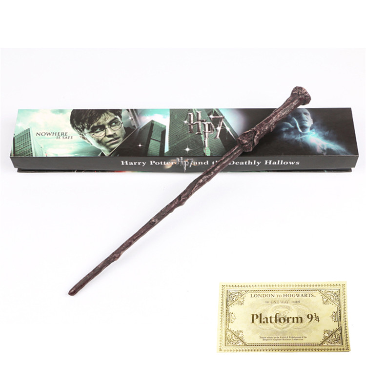25 Kinds Of Har Potter Magic Wands Dumbledore Hermione Voldemort With Box Hogwarts London Express Replica Train Ticket