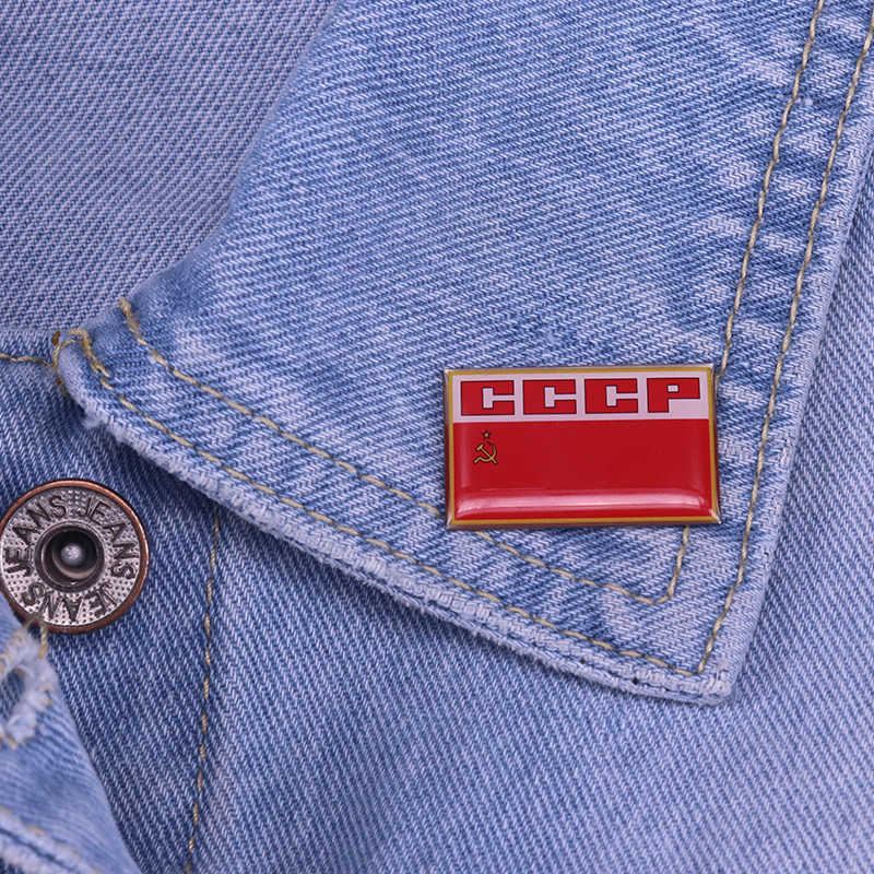 Pro Kitty Pin Uni Soviet Bendera Bros Uni Soviet Komunisme Lencana Vintage Red Star Perhiasan Pria Patriot Hadiah