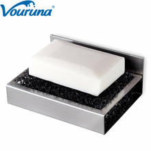 VOURUNA Stainless Steel 304 SUS Bathroom Soap Dish Holder Basket Without Nails Installtion