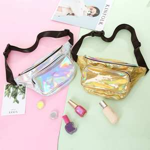 Bum-Bag Fanny-Pack Clear Holographic Transparent Waterproof Women Fashion Punk Belt Laser