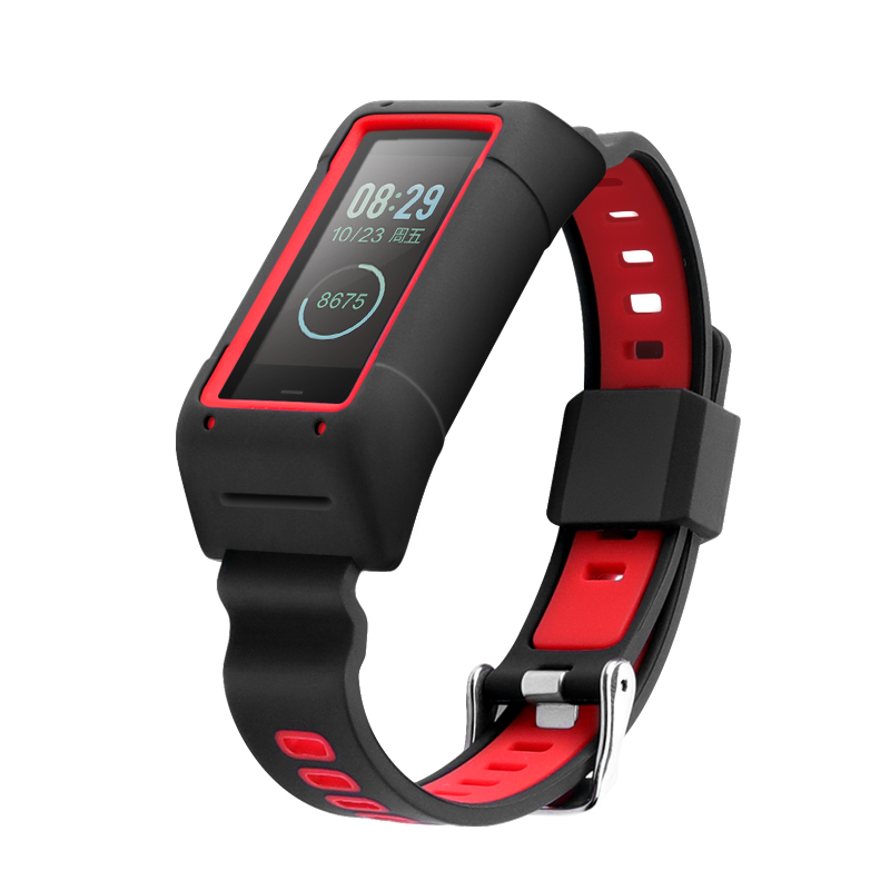 For <font><b>Amazfit</b></font> Band <font><b>Cor</b></font> <font><b>2</b></font> A1712 Smart <font><b>Bracelet</b></font> Soft silicone strap Comprehensive protection <font><b>Amazfit</b></font> Band <font><b>2</b></font> strap adjustable size image