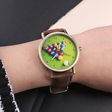 Cindiry Colorful Print Billiards Women Watches 2017 Ladies Watch Female Clock Relogio Feminino Watch For Women As Gifts