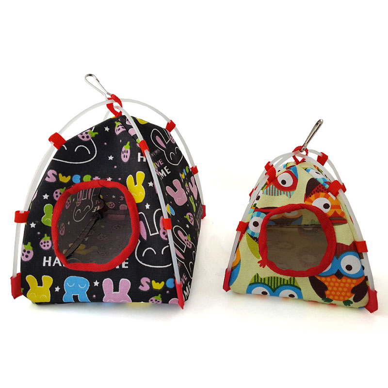 Fashion Cotton Bird Hanging Cave Cage Snuggle Hut Tent Bed Birds Winter Warm Nest Bird Parrot Conure Bunk Toy Parrot Hammock