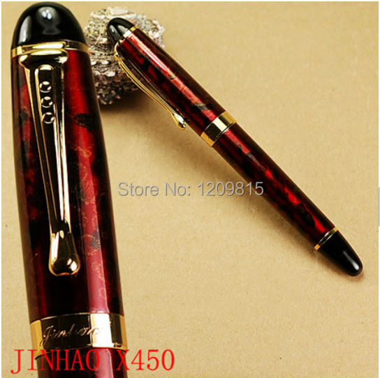 JINHAO X450 wine red fog and golden clip fountain pen high quality school office business writing pens