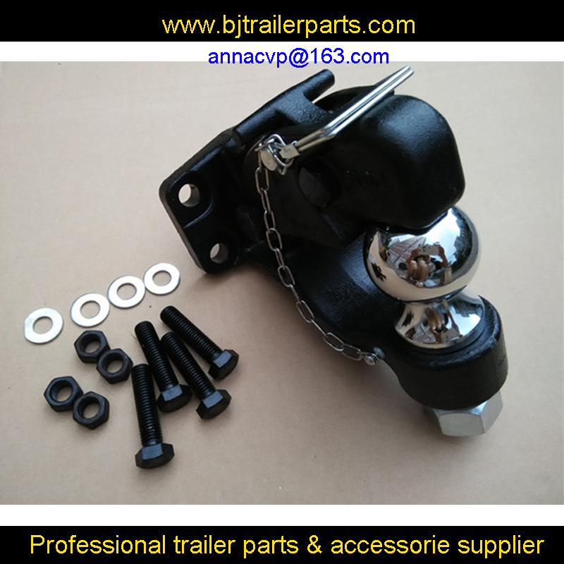 2 Ball Hitch >> Us 48 0 Pintle Hook Combo With 2