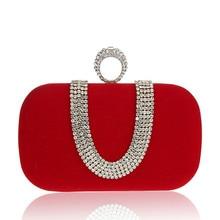 Sweet Style Rhinestone Women Evening Clutch Bag Rhinestone Ring Women Wedding Party Bag Womem Wallet And Handbag