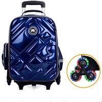 2/6 колеса для девочек, водонепроницаемая школьная сумка, модный рюкзак для мальчиков, сумка на колесиках, детские школьные сумки, Детские Су