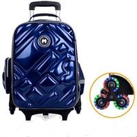 2/6 Wheels Girls Waterproof School Bag Fashion Boy Backpack Trolley Bag Children School Bags Kids Wheeled Bags Girls Backpack