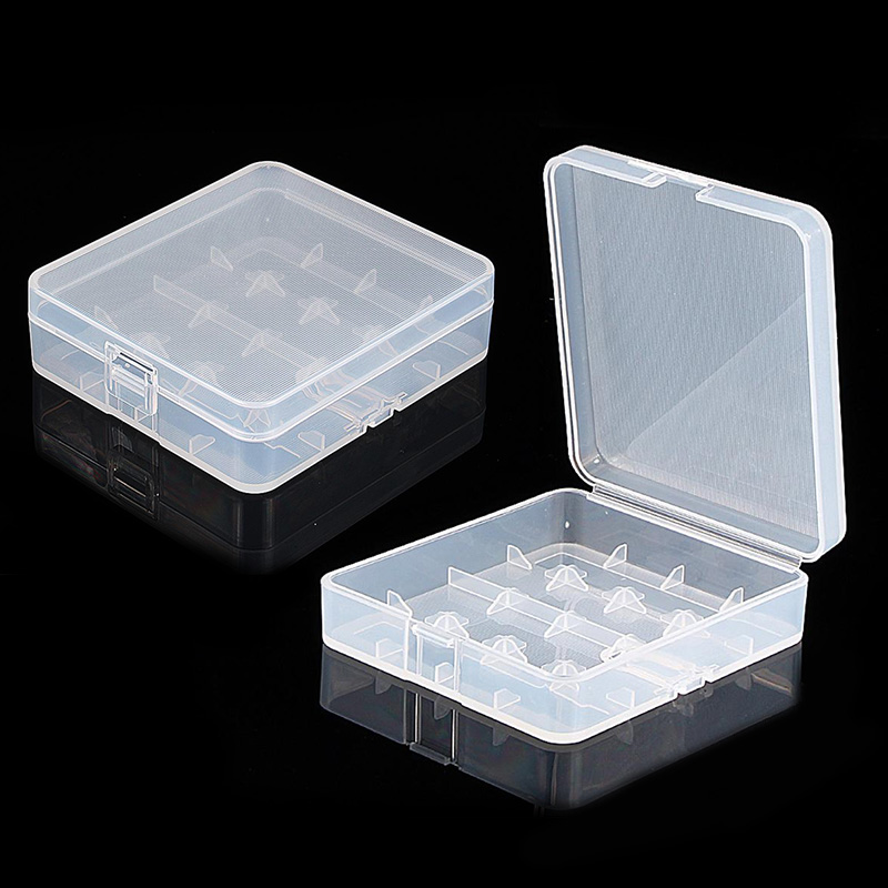 2pcs Clear <font><b>Storage</b></font> <font><b>Box</b></font> Plastic Protective <font><b>Storage</b></font> Case Holder for <font><b>18650</b></font> 18350 <font><b>Batteries</b></font> -30