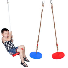 2 Pieces Kids/Children Outdoor Tree Hanging Seat Monkey Disc Rope Swing Garden Accessories Playground Park Toy(China)