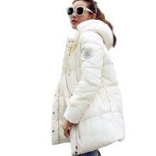 2016 Новых женщин Мода зимняя куртка в долгосрочной разделе ватные куртки сельма парки дамы пальто куртка С Капюшоном женский