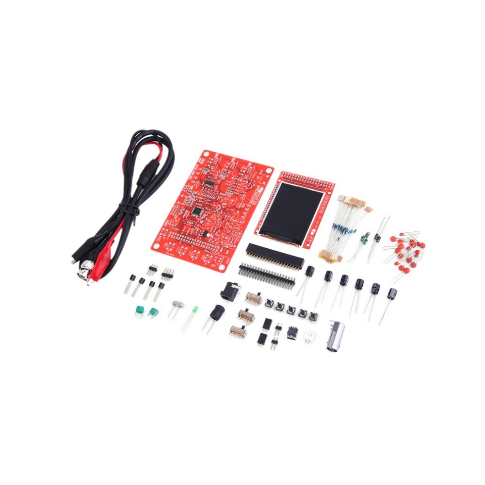 Good quality 3pcs  DSO138 2.4 TFT Digital Oscilloscope Kit DIY parts ( 1Msps ) with probe hot new