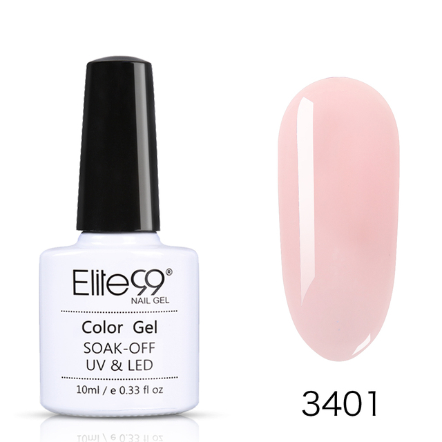 Elite99 Nackt Gelee Nail art Gel Polnisch Tränken Weg Maniküre Candy Nägel Gel Polnischen Semi-transparent LED UV Gel nagellack Lack